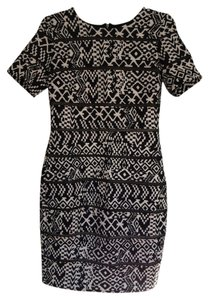 Pim + Larkin Print Date Shift Bodycon Dress