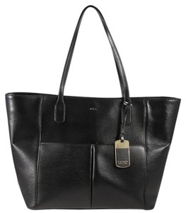 Ralph Lauren Leather Pocket Tote in Black