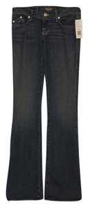 Rock & Republic Denim Unaltered Long Dark Boot Cut Jeans-Dark Rinse
