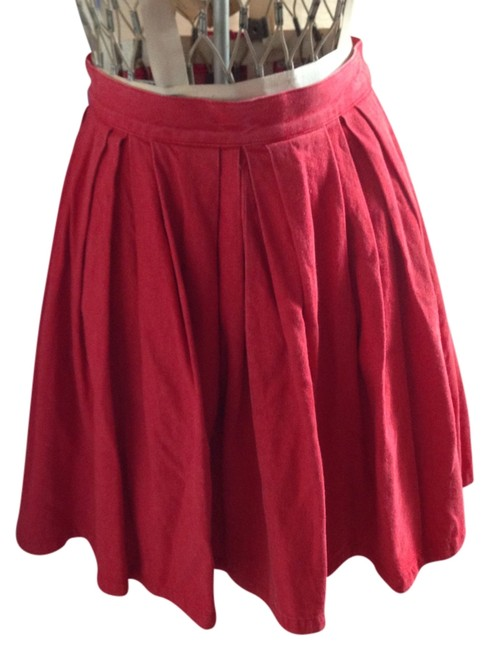Armani Jeans Mini Skirt red