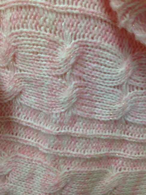 Around the clock Knit Shimmer Cowl Neck Sweater