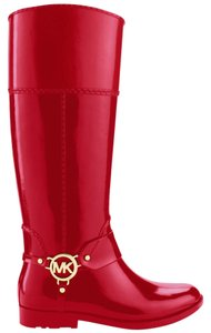 Michael Kors Fulton Harness Red Boots