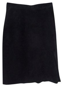 Banana Republic 100% Suede Mini Skirt Black