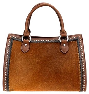 Montana West Genuine Leather Satchel in Brown