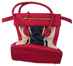 J.Crew Satchel in Red, Navy and Eggshell/light tan