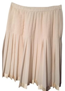 Adolfo Vintage Pleated Garden Mini Skirt White