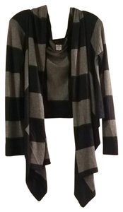 BCBG Max Azria Cashmere Wrap Sweater Stripes Cape