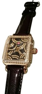 Michele MICHELE LIMITED EDITION ART OF DECO DIAMOND BLACK AND GOLD TONE WATCH NEW WITH MICHELE BOX