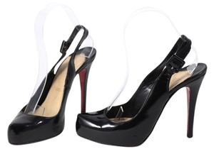 Christian Louboutin Patent Leather Black Patent Pumps