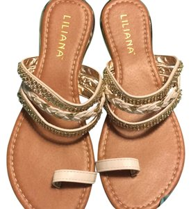 Liliana White/gold Sandals