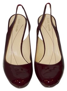 Kate Spade Burgundy patent leather Platforms