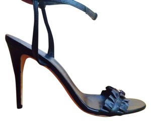 Gucci Leather Leather Designer High Heels Designer Leather High Heel Leather Strappy Strappy High Heel Black Sandals