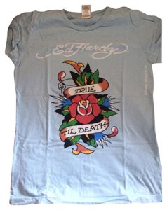 Ed Hardy Cotton T Shirt Sky blue