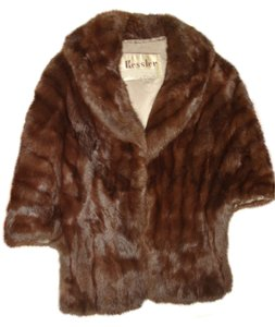Other Genuine Fur Vintage Excellent All Size Top Dark Brown