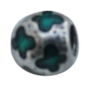 PANDORA Authentic Pandora Silver TEAL Enamel BUTTERFLIES Charm 790438EN08 RETIRED