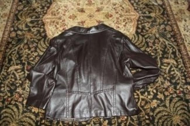 Casual Corner Brown Leather Jacket