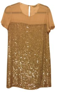 Club Monaco Sequin Party Silver Dress