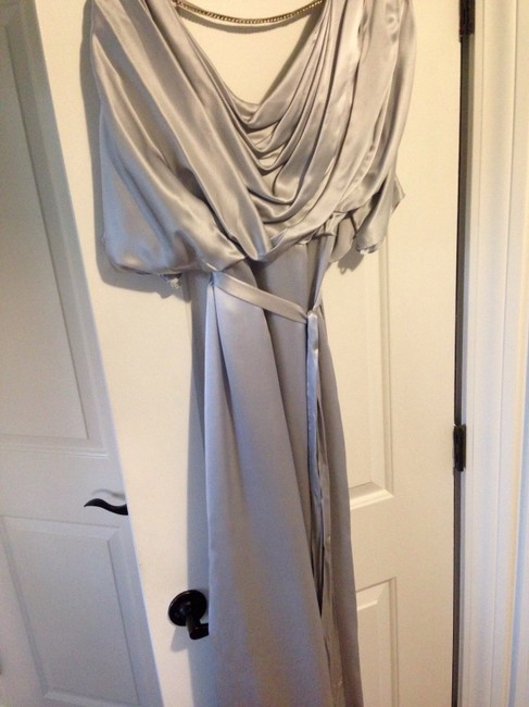 Item - Gray Silk Feminine Bridesmaid/Mob Dress Size 6 (S)