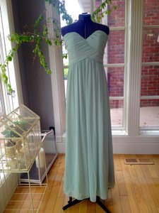 Bill Levkoff Pistachio (Soft Green) Chiffon 386 Vintage Bridesmaid/Mob Dress Size 8 (M)