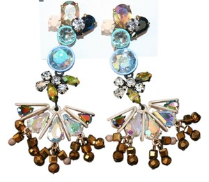 J.Crew J.CREW CRYSTAL BEADED CHANDELIER EARRINGS