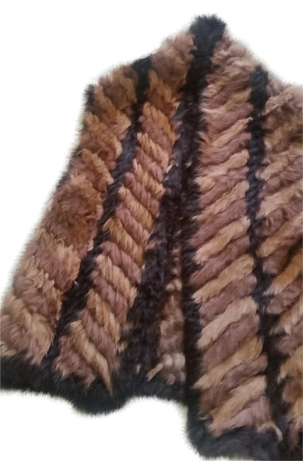 Item - Multicolor Real Rabbit Fur with Pockets Vest Size 2 (XS)