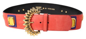 Escada Escada Red Suede Embellished Belt - 33 inch