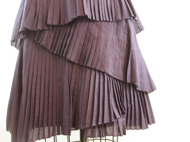 Vera Wang Lavender Label Tiered Pleated Dress