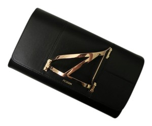 perrin paris black and gold Clutch