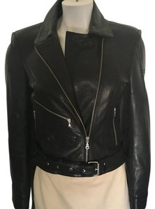 Imperio Clandestino Moto Style Zippers Leather Jacket