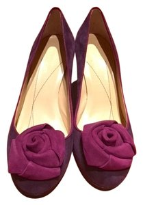 Kate Spade Suede Purple Eggplant Pumps