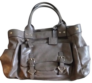 Liz Claiborne Satchel in Beige/brown-grey