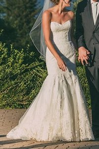 Watters & Watters Bridal Ivory English Lace and Tulle Wtoo Flora Gown Style 11538 Feminine Wedding Dress Size 2 (XS)