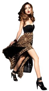 Leopard Maxi Dress by Other High Low Maxi Chiffon Strapless Sexy