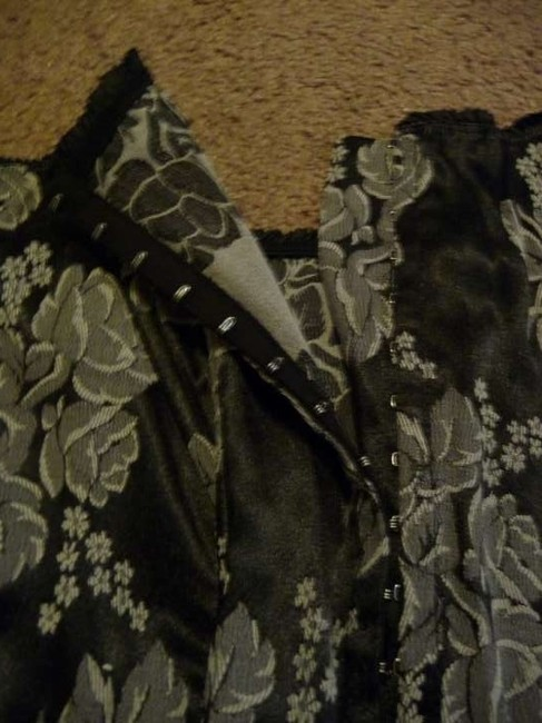Lauren U. Strapless Corset With White Flowers From Charlotte Russe Top Black