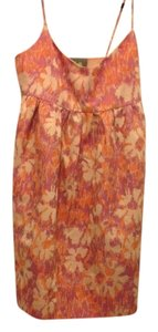 Anthropologie short dress Print pink orange Brocade Brunch Floral on Tradesy