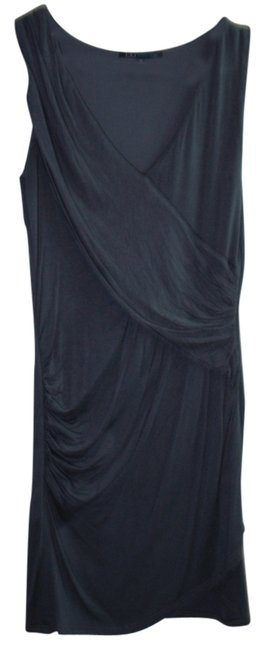 Item - Grey XS Labeled M But Fits Like S Or Tunic Surplice Going V-neck Stretchy Mini Night Out Dress Size 4 (S)