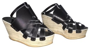 Derek Lam Black Leather Wedges
