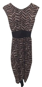Lovposh short dress Black, grey and brown print on Tradesy