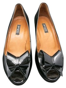 Paul Green High Heels Peep Toes black patent leather Pumps