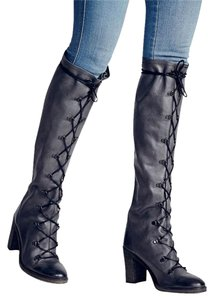 Free People Memphis Lace-up Sz 38 Retail Is $298 Stand-out Boots