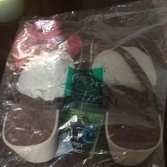 Crocs Beige, Blue And Brown Sandals