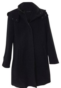 Zara Basic With Hood Pea Coat