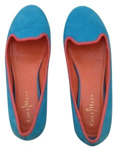 Cole Haan Blue With Orange Detail Flats