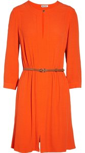 Juicy Couture short dress NEW orange Belted Crepe on Tradesy