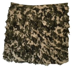 J.Crew Mini Skirt Green Camoflauge