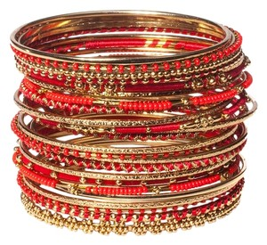 Amrita Singh Amrita Singh Meenal Bangle Set 8 Red