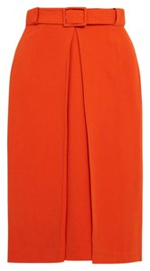Raoul Belted Skirt orange