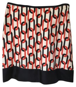 Banana Republic Mini Skirt Orange navy multi