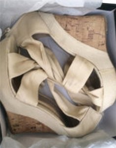 bebe Nude Wedges