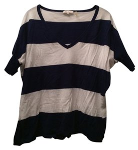 Minnie Rose T Shirt Navy Blue And White Stripes